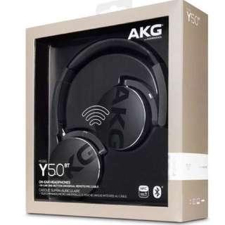 AKG Y50BT Wireless On-ear Bluetooth Headphones