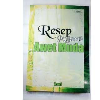 buku bekas resep mujarab awet muda