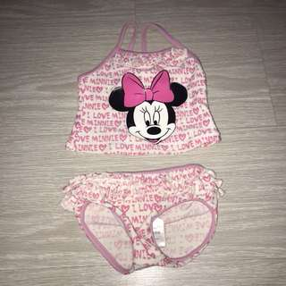 Fox baby disney Minnie mouse pink bikini swim wear