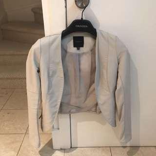 Dynamite White Faux Leather Jacket