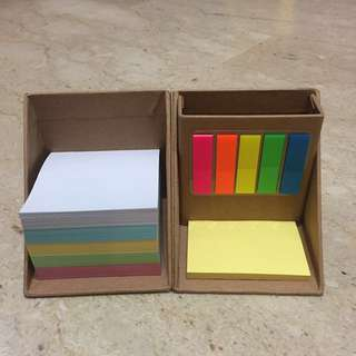 All-in-one post it box and pencil holder