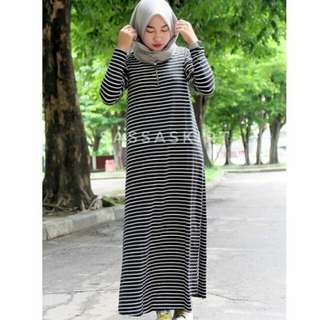 Basic stripe dress, gamis