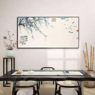 Draping Leaves Canvas Painting