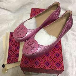 美國代購,香港現貨:全🆕Tory Burch大logo鞋👟👠👣only US6碼(36-36.5碼適合)100%正品!連盒連塵袋