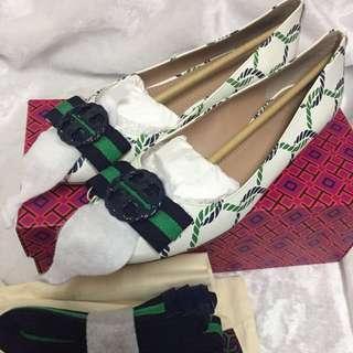 美國代購,香港現貨:全🆕Tory Burch logo鞋👟👠👣only US8.5碼(38-39碼適合)100%正品!連盒連塵袋