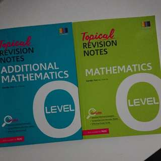 O Level Topical Revision Notes A Maths (SOLD)/ E Maths