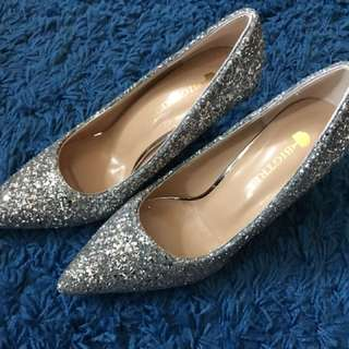 Lady bling bling high heels