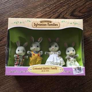 Sylvanian Families Cottontail Rabbit Family