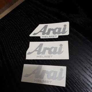 Arai Aftermarket Front Emblem Sticker