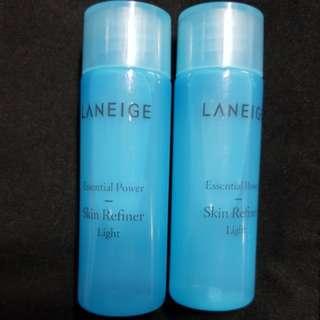 New 2x25ml Laneige Skin Refiner Light Toner