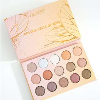 BRAND NEW INSTOCK: ColourPop Golden State of Mind Pressed Powder Shadow Palette
