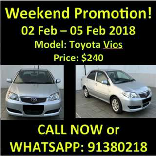 Weekend Promotion 2-5 Feb Toyota Vios