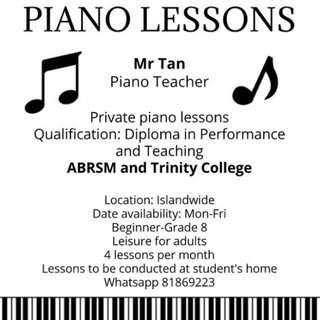 Experience Piano Teacher