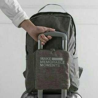 Premium Folding extra bag / duffle backpack / tas ransel koper lipat