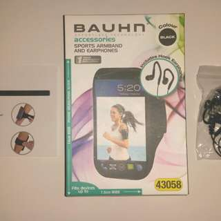 Mobile phone Sports Armband with Earphones