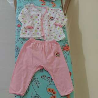Baby Girl Clothes (1 set with mittens and booties)