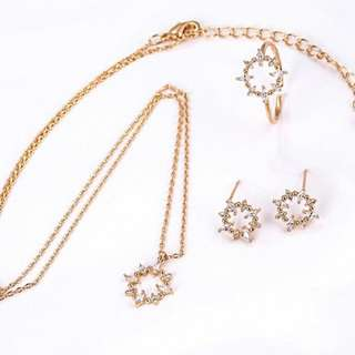 18K Gold Filled Jewellery Set