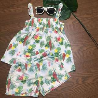 ZARA tropical matchy set