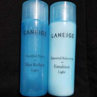 New 2x25ml Laneige Skin Refiner Light and Emulsion Light