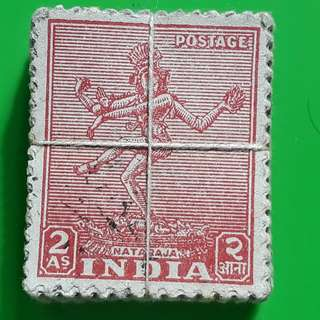100 X india Definitive Vintage Stamps ( 1 BUNDLE ) - 1949 - Nataraja (Thiruvelangadu) Lord Shiva - ALL THE STAMPS ARE NICELY PACKED in bundle, (1 bundle = 100 stamps )