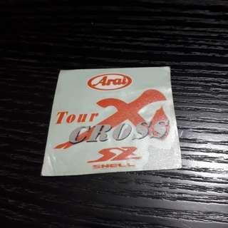 Arai TourCross Aftermarket Emblem Sticker Whole Set