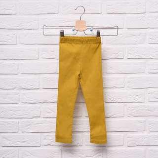 Girl's Leggings in Mustard