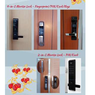 Smart Lock with Mortise to replace your Door Handle from $599