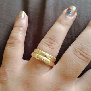 Gold couple ring