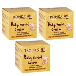 3 x Tropika Baby Herbal Cream 50g