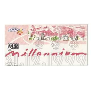 Malaysia 1999 Celebrate the New Millennium (Series I) FDC SG #829-833 (slight toning found on cover)