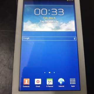 95% New Samsung Tab 3 7.0 inches White (Original) Good Condition with Smart Protect Case