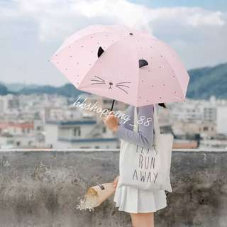 韓國防紫外線創意雨傘小清新三折遮