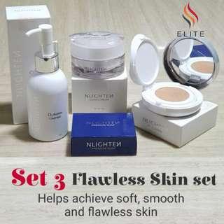Nlighten cc cushion,cloud cream and premium soap