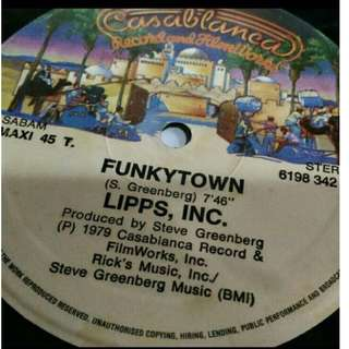 "LIPPS INC FUNKYTOWN 12"" VINYL SINGLE MAXI"