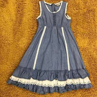 Poney Denim Dress