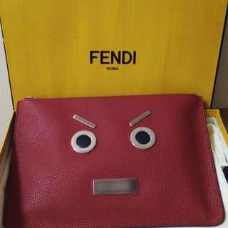 全新真品 Fendi 紅色手拿包