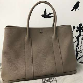 Hermes Garden Party 36 GP36 Gris T