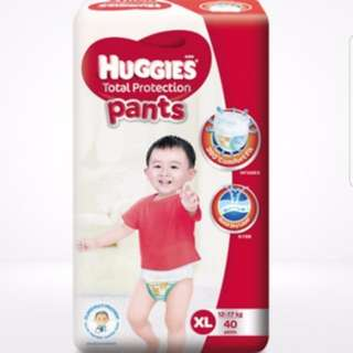Brand new sealed packet ..Huggies Total Protection Pants xl