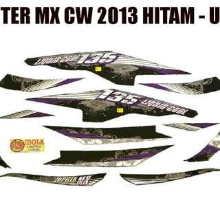 Striping Jupiter MX CW 2013 Hitam - Ungu