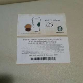 Starbucks Coffee $25