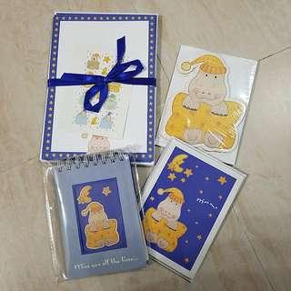 小河馬信封信紙,萬用卡,note pad