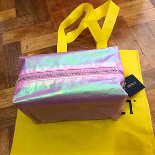 Brand New Auth Forever 21 Metallic Makeup Bag