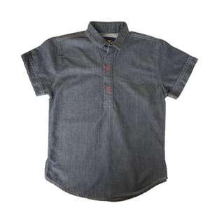 Tiger Black Denim Shirt (4 – 7Y)
