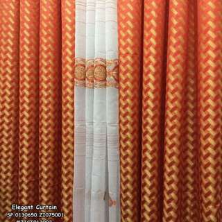 Elegant curtain size : 60*85 inches 2 brocade 1 laced 1 kilo