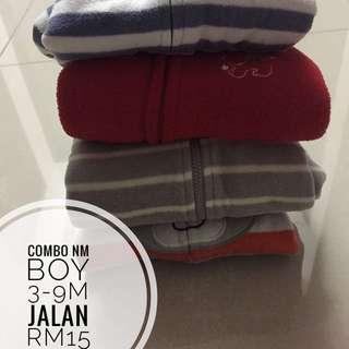 COMBO NON MUSLIM : Rm15 Baby Sleepsuit Boy