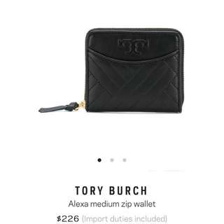 Tory Burch Alexa medium zip wallet