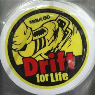 Drift For Life Car Decal