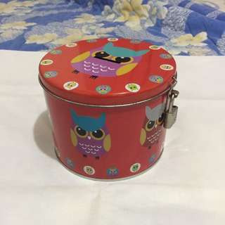 Canister/Coin Bank with Lock