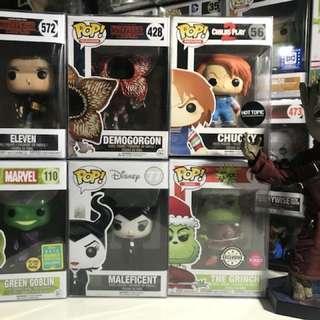 Pop Stranger Things Chucky Green Goblin Maleficent Grinch Disney