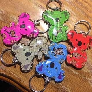 澳洲帶回 無尾熊鑰匙圈